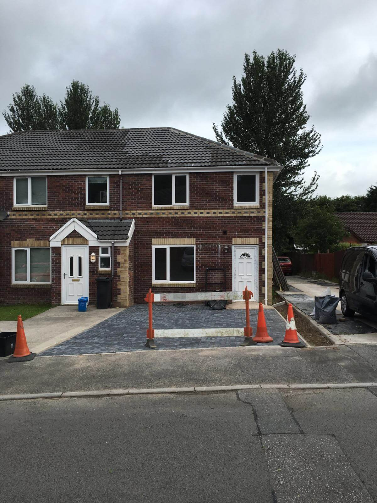 combined air tightness and sound insulation testing at 2 new build flats in merthyr tydfill, wales.JPG